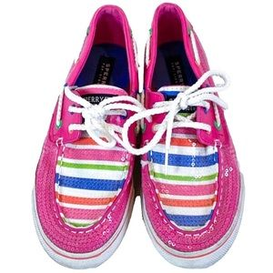 Sperry Bahama hot pink sequin size-3.5m